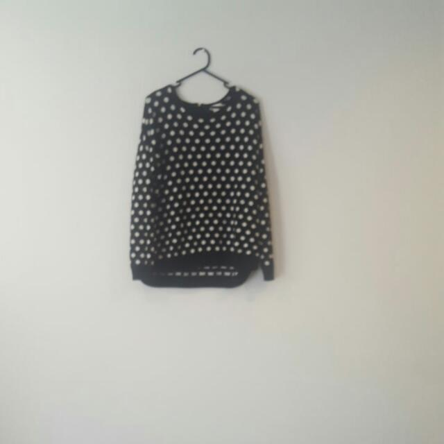 Black And White Spotty Jumper
