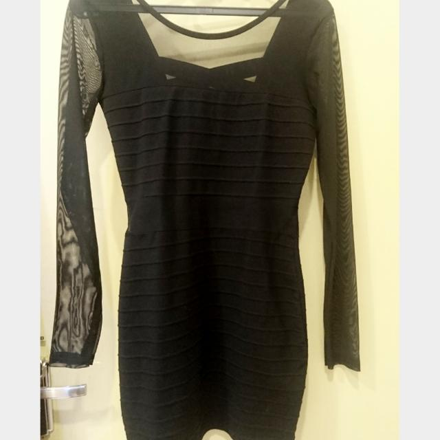Black Dress Lucu Bodycon