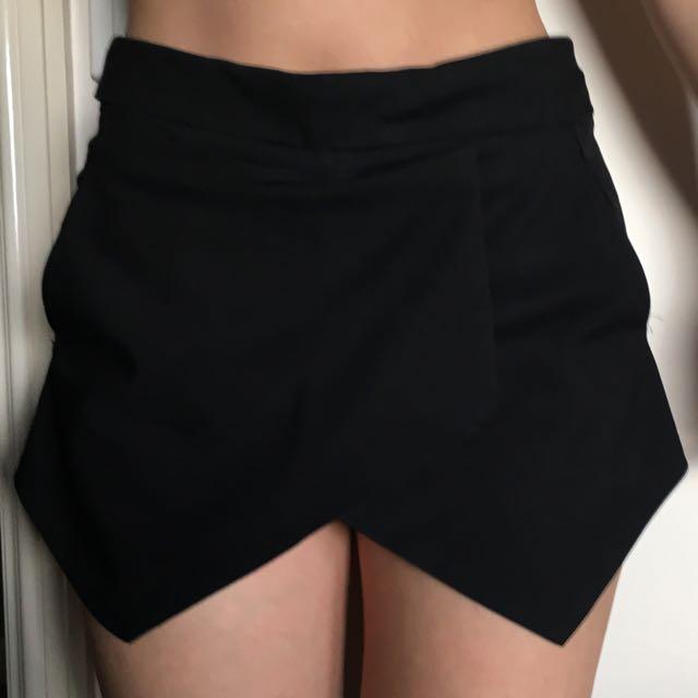 Black Triangular Style Shorts