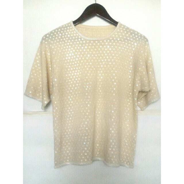 Blouse with full sequins