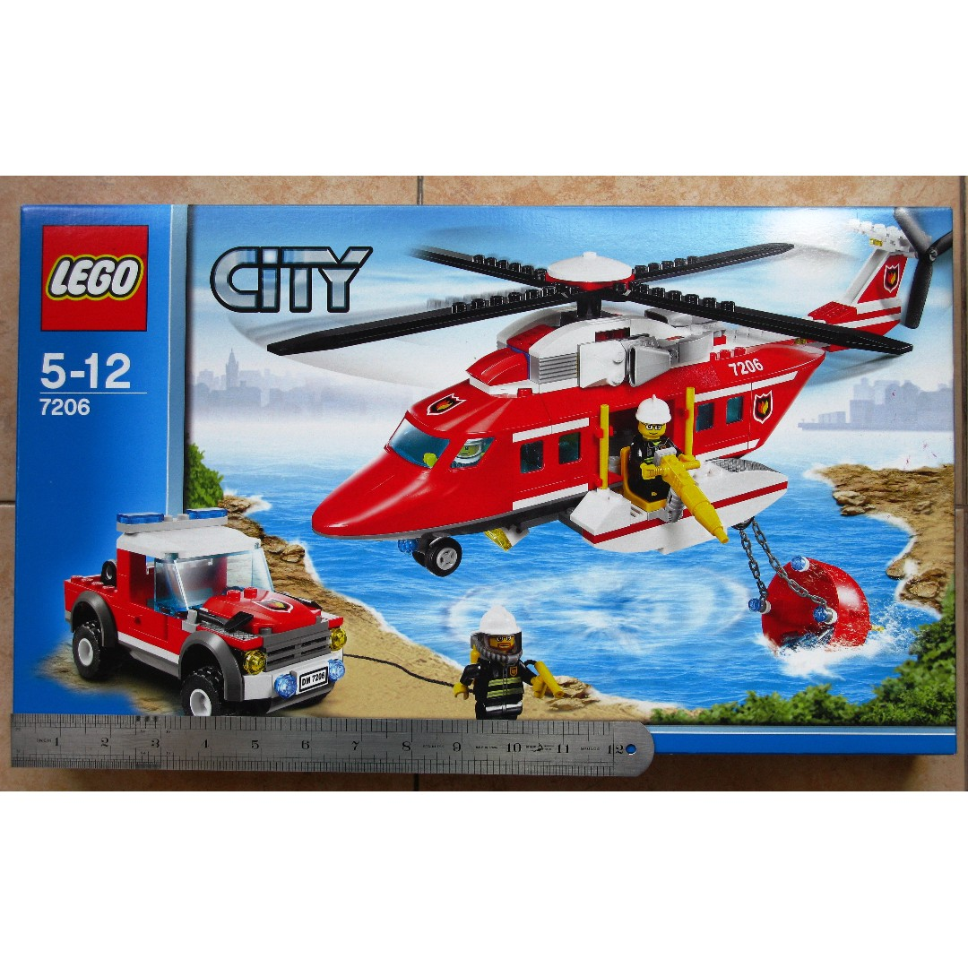 BNIB LEGO City 7206 Fire Helicopter (First Edition), Toys & Games, Bricks &  Figurines on Carousell