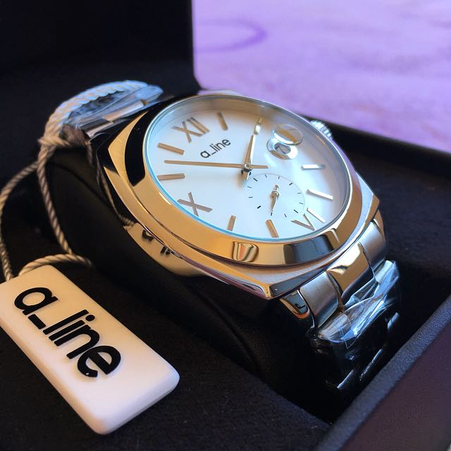 Brand New a_line Silver Tone Watch by Swiss Watch International Group (NEGOTIABLE)