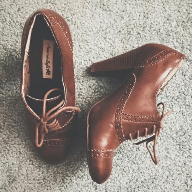 Brown Oxford Heels