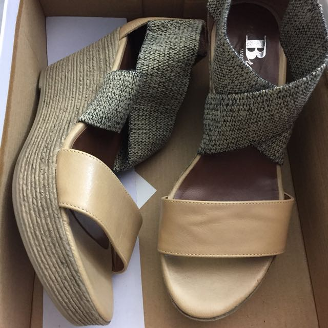 Browns Leather Wedge Sandals