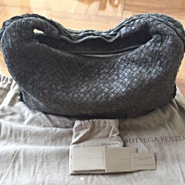 FURTHER D[100% Authentic] Bottega Veneta Hobo Intrecciato Bag Large