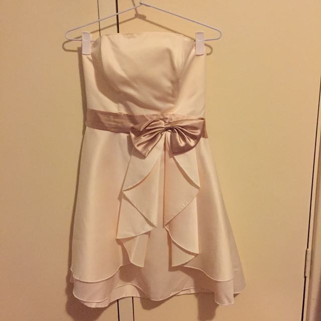 Champagne Coloured Cocktail Dress