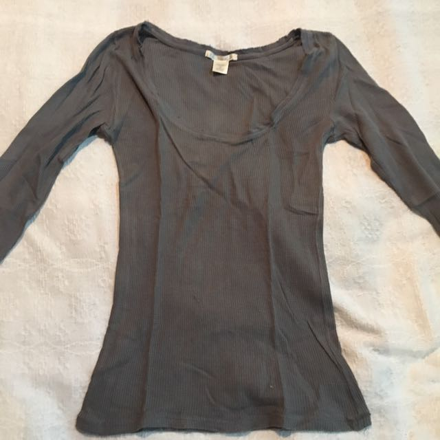 Charlotte Rousse Gray Long Sleeves