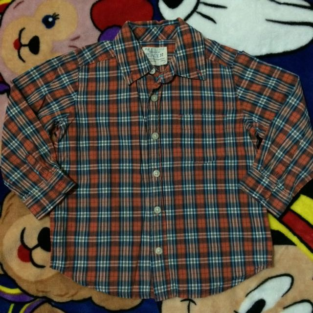 Children's Place Plaid Polo