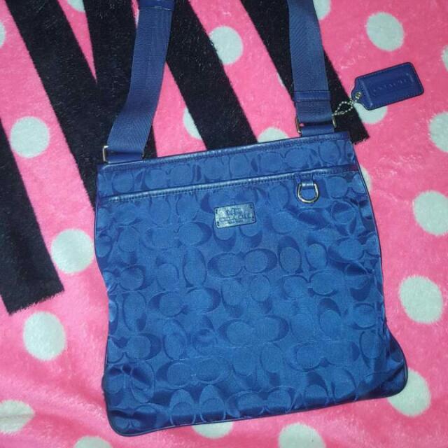 SALE!!! Preowned Coach Signature crossbody messenger nylon bag