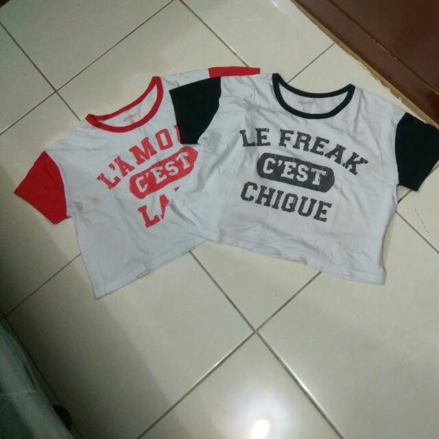 2 Colorbox Croptop t-shirt