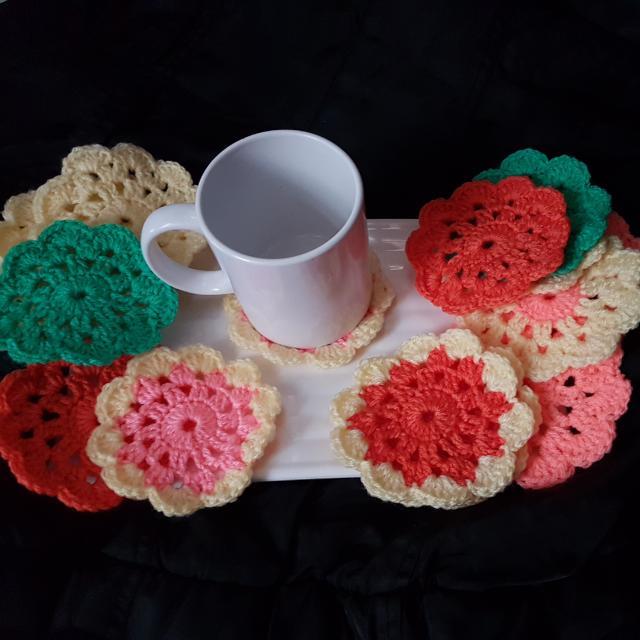 Crochet Coaster/ Cup/glass Pad