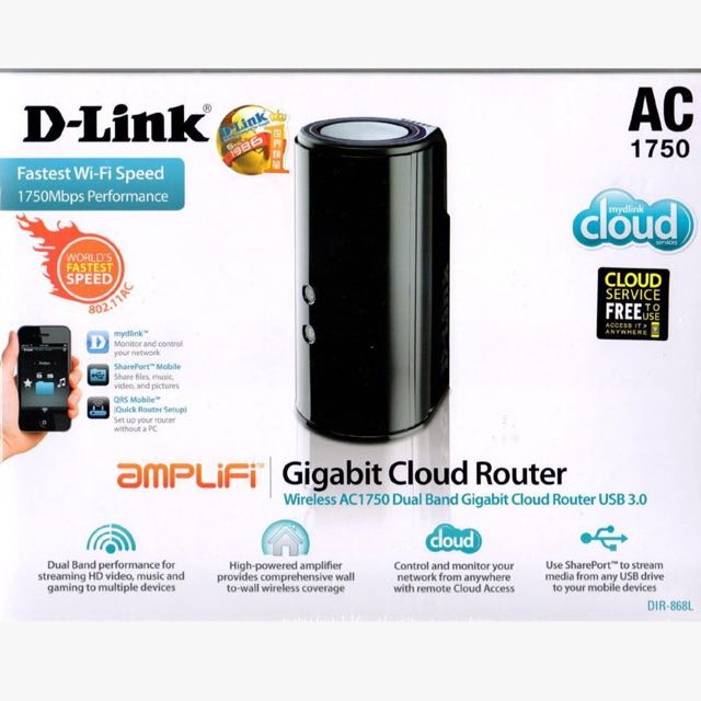 D-link 1300Mbps AC1750 WiFi Wireless Dual Band Gigabit Router
