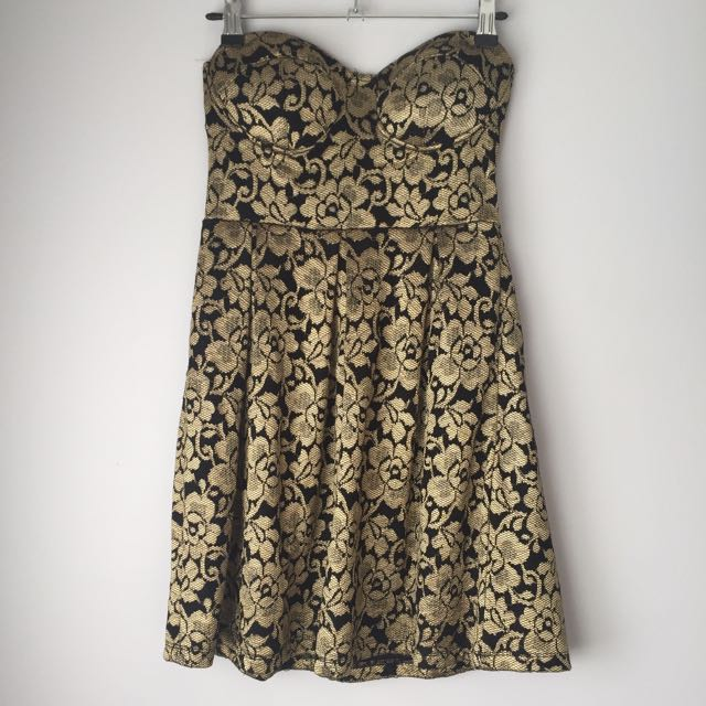 Dotti XS/6 Gold Dress