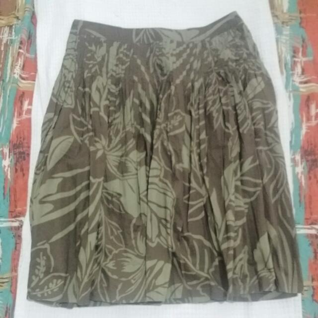 Esprit Knee Length Skirt Floral Green