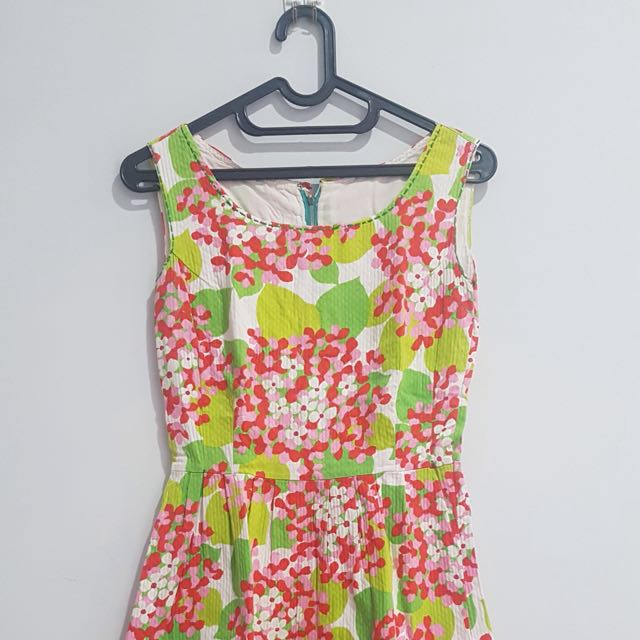 Floral Dress With Back Zipper
