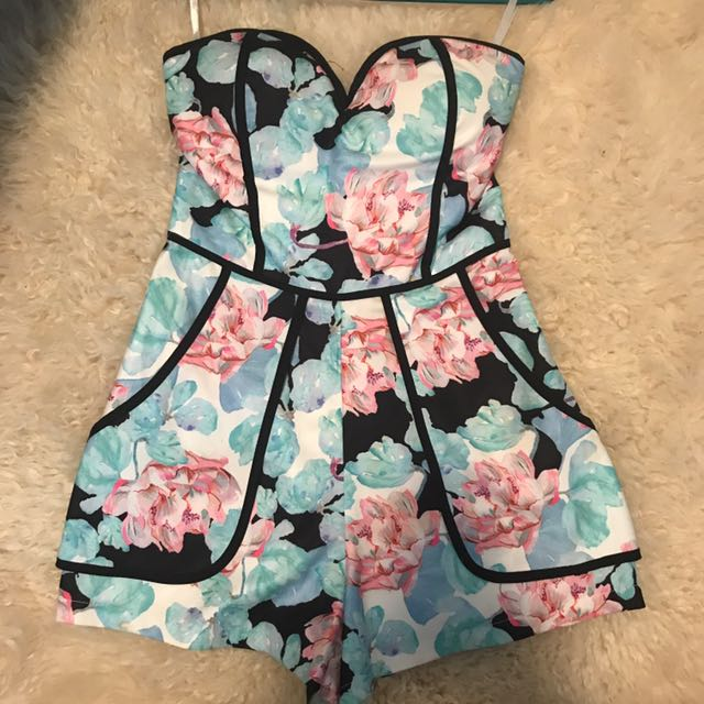 Flower Print Playsuit