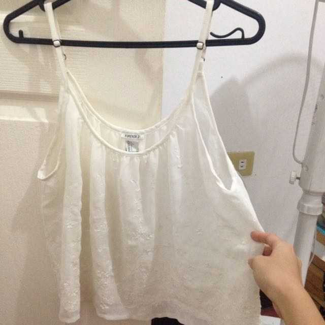 Forever21 See Thru Islet Tank Top