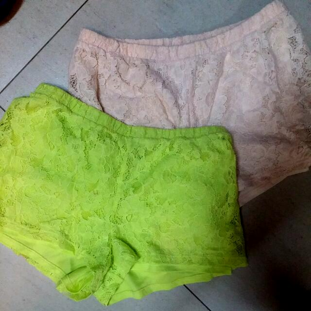 Forever 21 Lace Shorts (PHP 150 EACH)