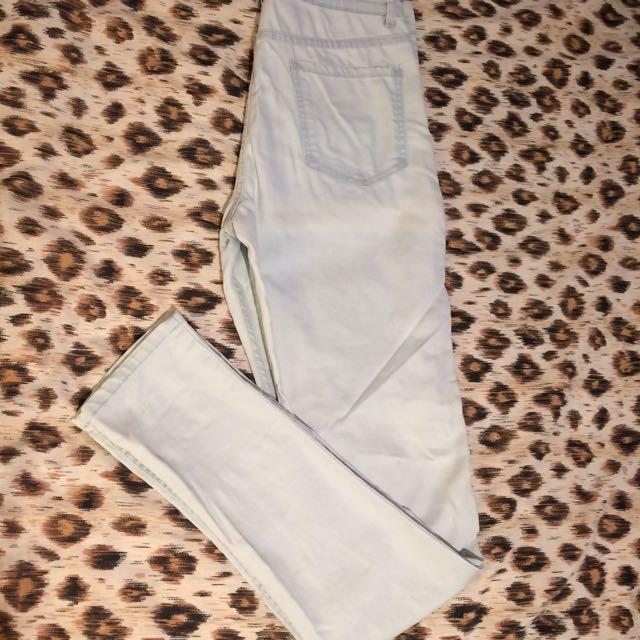 Glassons High-waisted Skinny Jeans Very Light Denim Sz10
