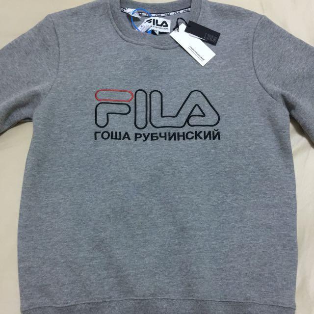 Gosha X Fila Crewneck Sweatshirt Grey Small