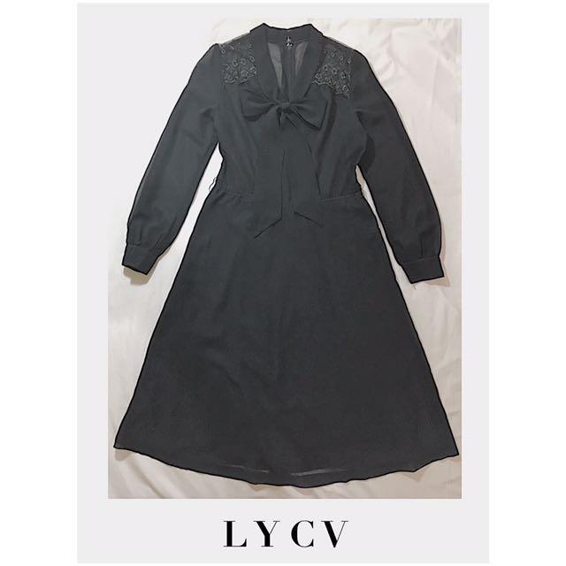 GOTH BLACK LACE DRESS