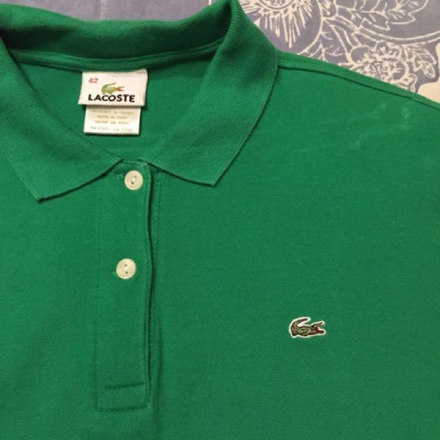Green Lacoste Women's Shirt