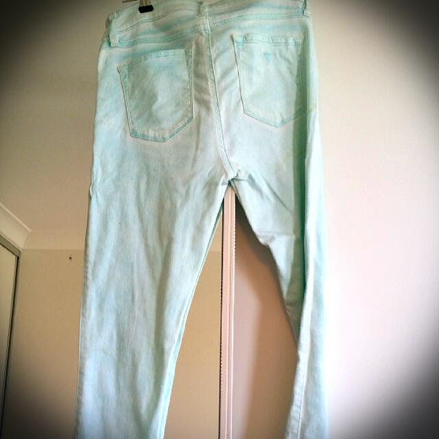 Guess Skinny Denim Turquoise Jeans
