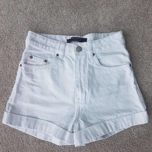 Highwaist White Denim Shorts