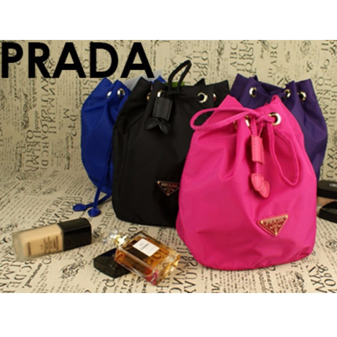 ddfcf72ebee5 ... prada black pink blue drawstring bag pouch gwp free post womens fashion  bags wallets on cheap prada cahier crossbody bag city calf and saffiano ...