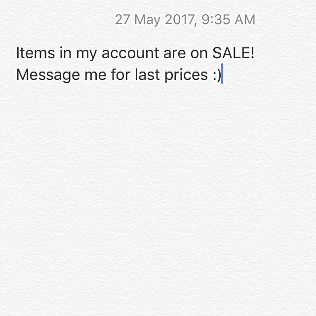 ITEMS FOR SALE!