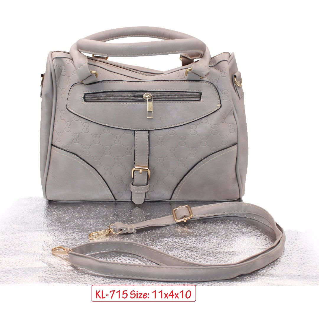 KL-715 Women Shoulder Bag with Adjustable Strap (Gray)