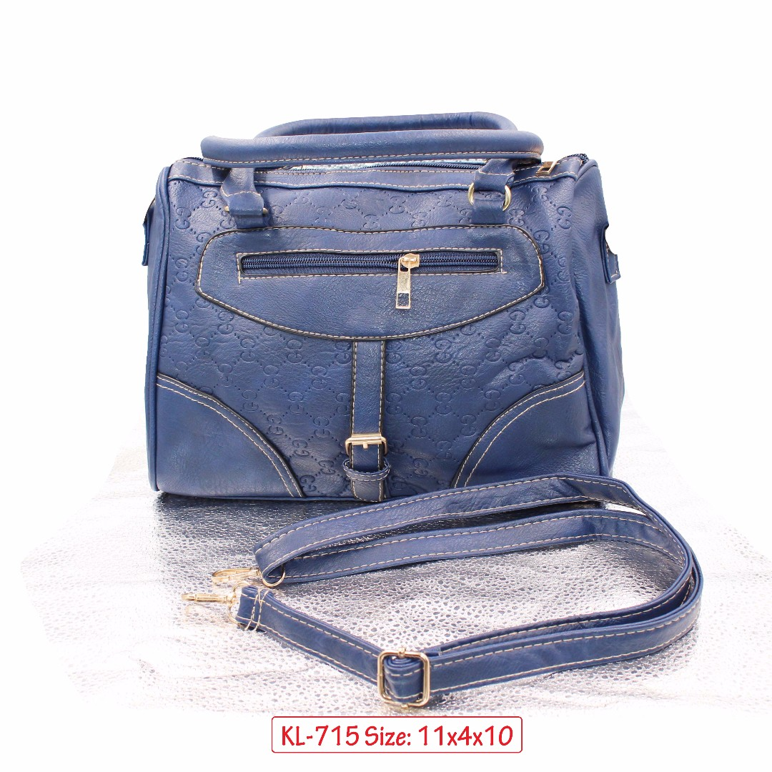 KL-715 Women Shoulder Bag with Adjustable Strap (Navy Blue)
