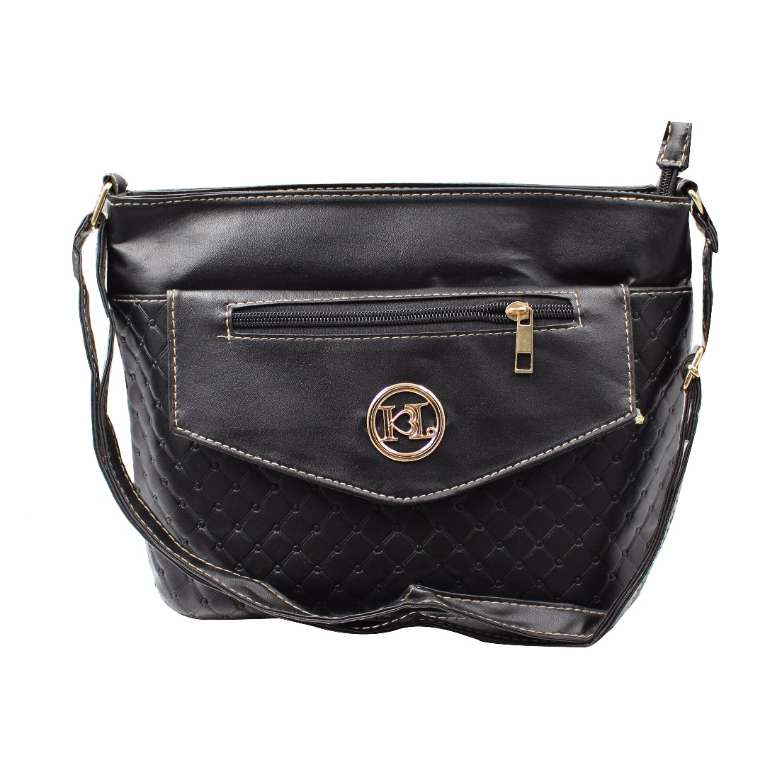 KL–719 Women Body Shoulder Bag (Black)