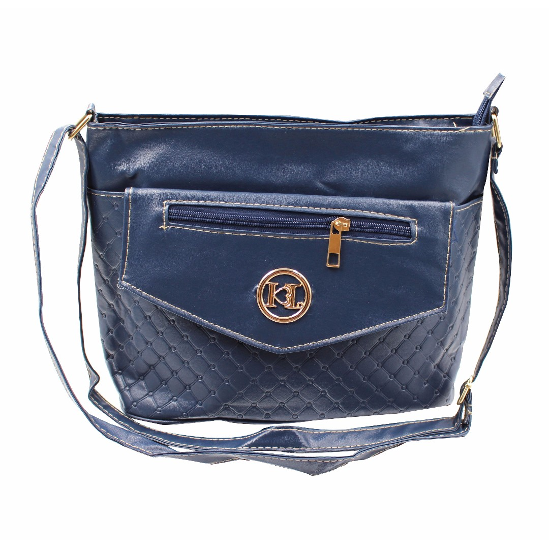 KL–719 Women Body Shoulder Bag (Navy Blue)