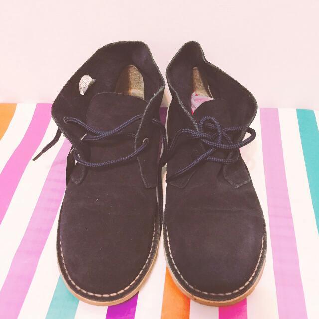 LOBO 半筒麂皮鞋