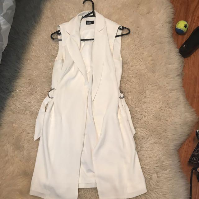Long White Vest