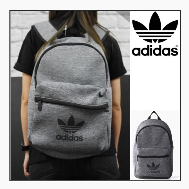 e2ab6f141107 LOOKING FOR Adidas Classic Jersey Grey Backpack