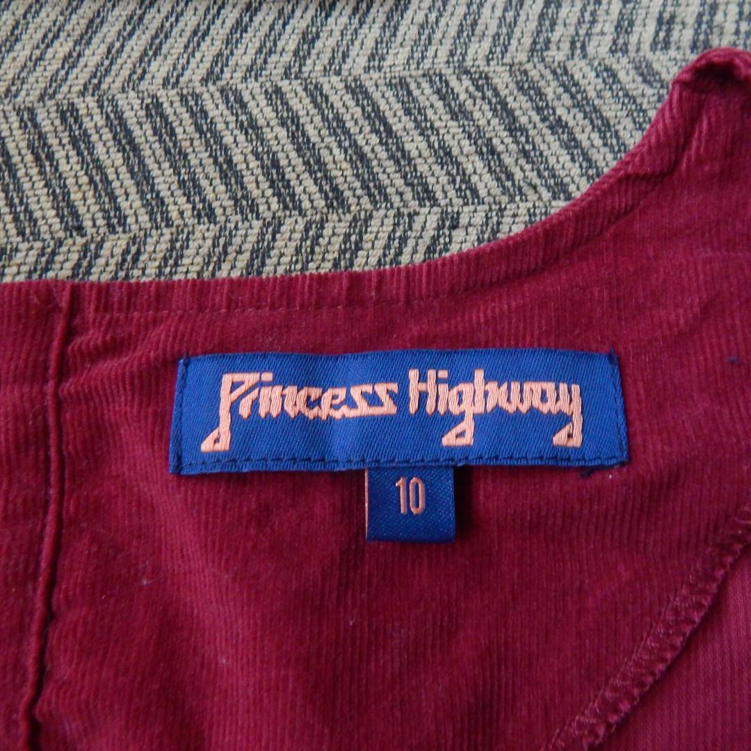 Maroon Smock Dress Princess Highway Size 10