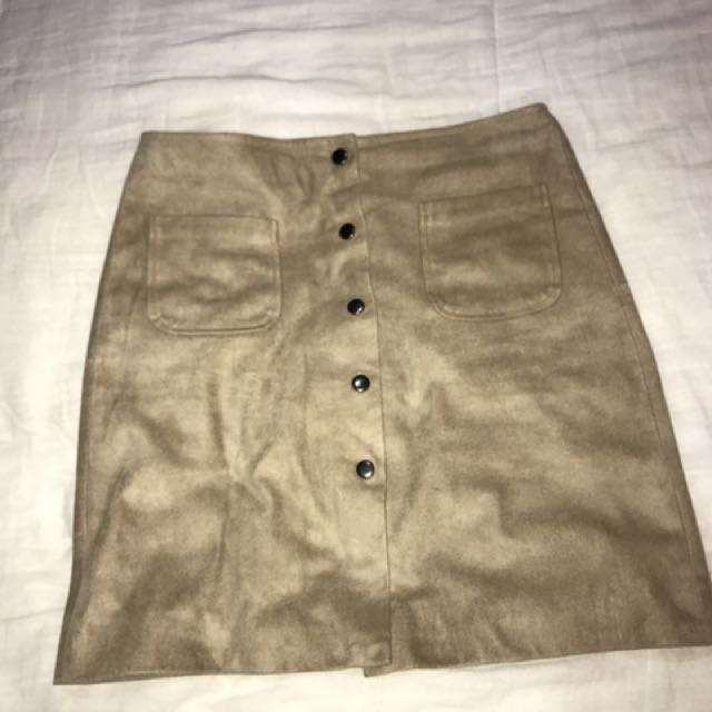 Max Suede skirt