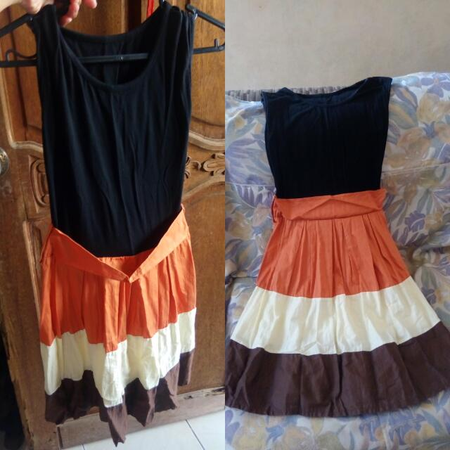 multi colored sleeveless dress (s-m)