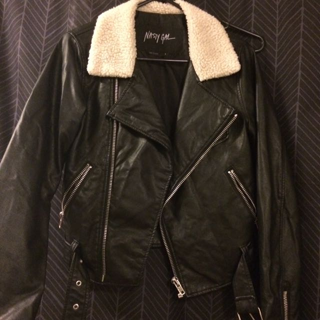 Nastygal Faux Leather Jacket