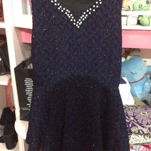 Navy Party Dress