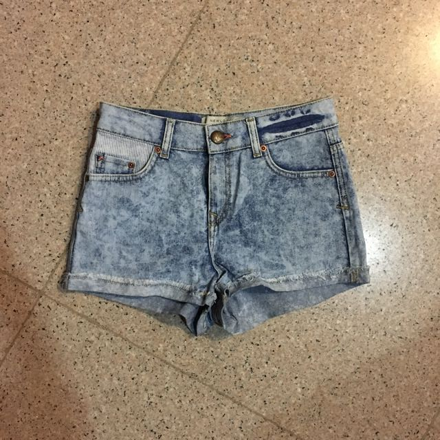 NEW LOOK washed denim shorts