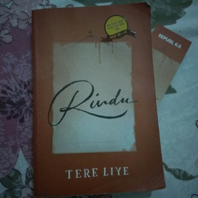 Novel Tere Liye  Judul : Rindu Best Seller