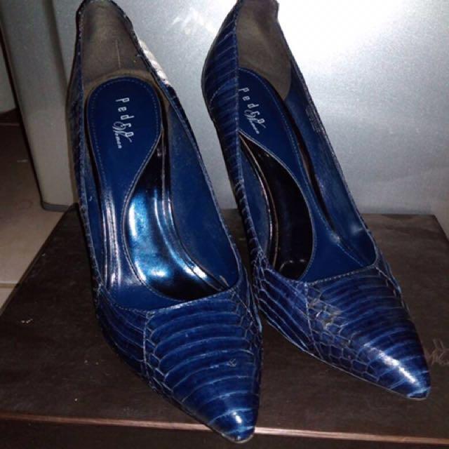 Pedro Navy Heels 7cm Prelove