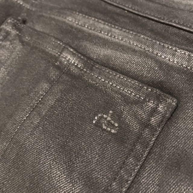 Rag And Bone Coated Black Jeans Aritzia