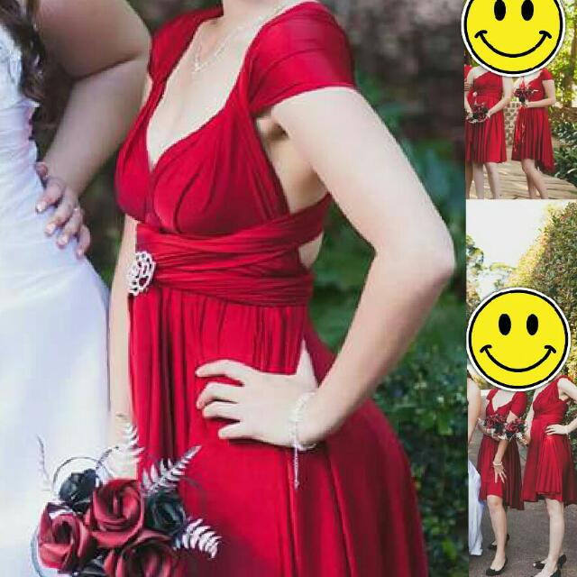Red Wrap Dress - Multiway