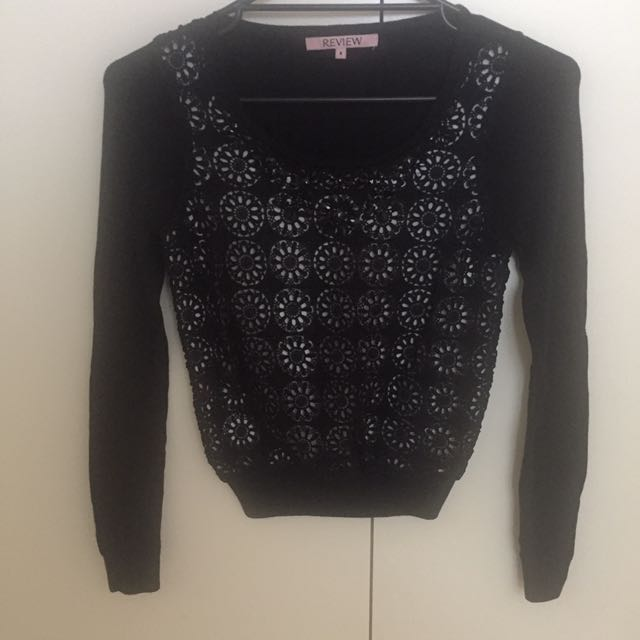 Review Lace Knit Top