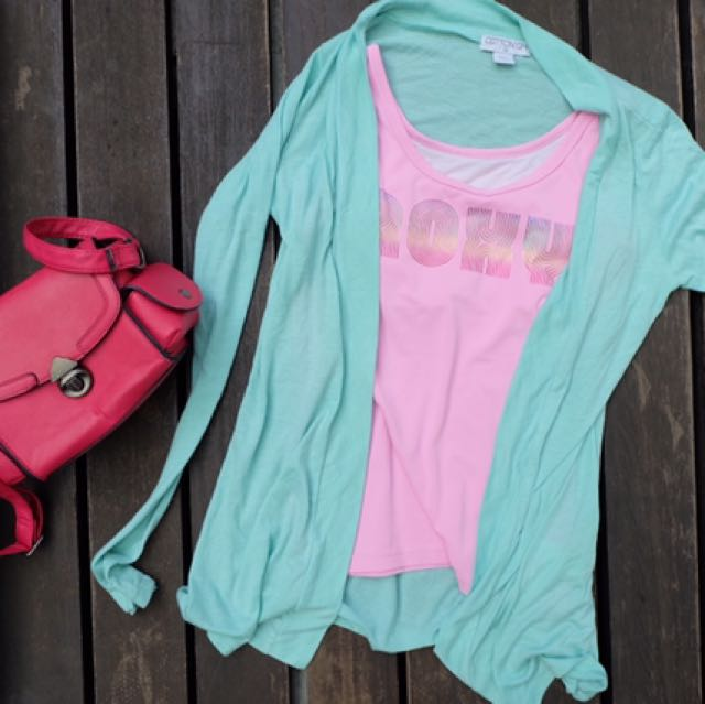 Roxy Sport Shirt And Cotton On Cardigan