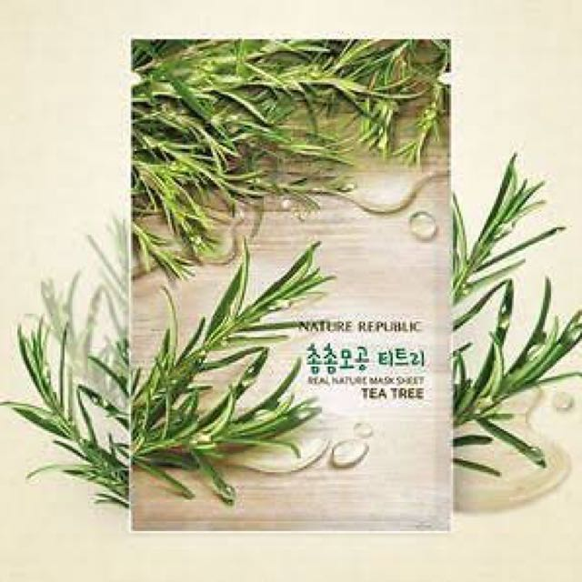 (SALE) Nature Republic Real Nature Mask Sheet Tea Tree
